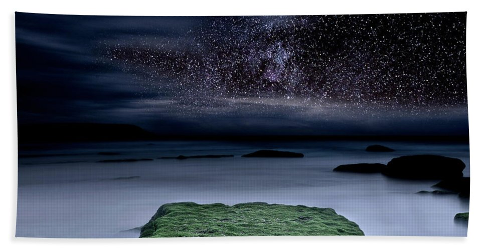 Night Beach Towel featuring the photograph Into The Shadows by Jorge Maia