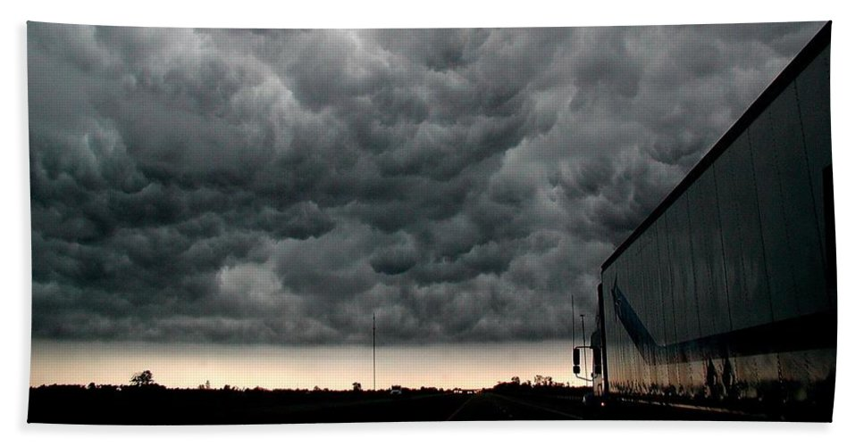 Storm Beach Towel featuring the photograph Into The Storm by D'Arcy Evans