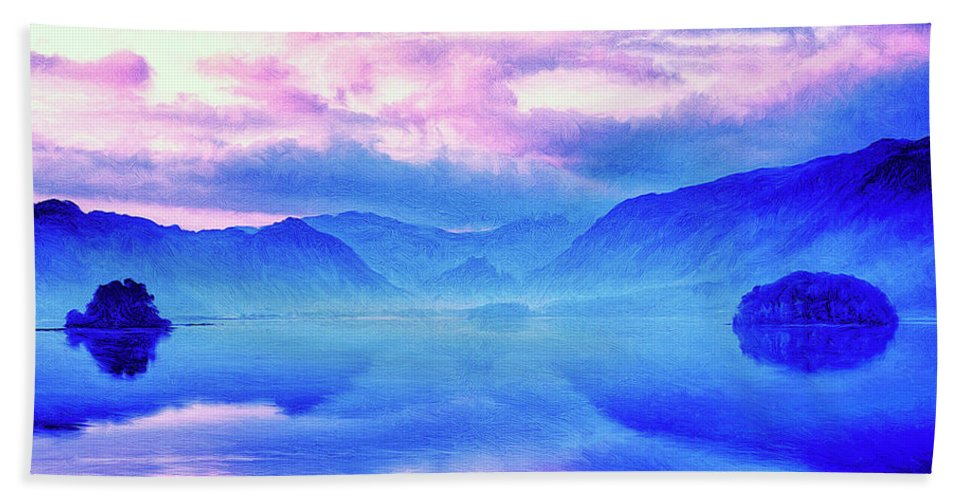 Into The Unknown Beach Towel featuring the painting Into The Unknown by Dominic Piperata
