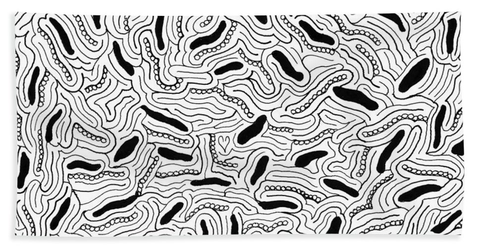 Mazes Beach Towel featuring the drawing Intuition by Steven Natanson