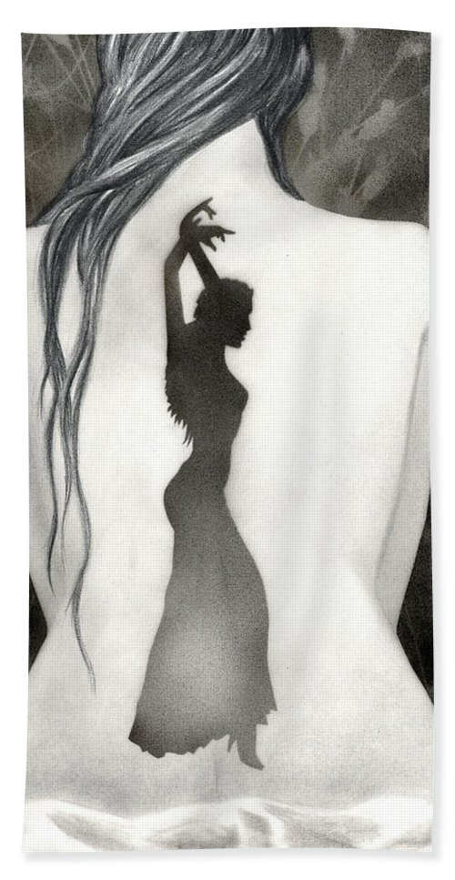 Dance Beach Towel featuring the painting Invocation by Miko At The Love Art Shop