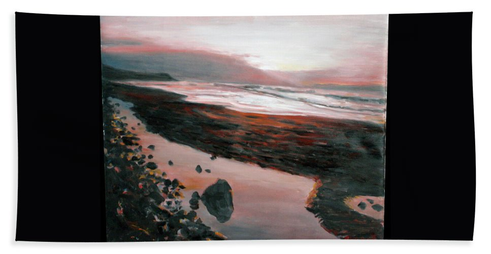 Landscape Beach Sheet featuring the painting Ireland by Pablo de Choros