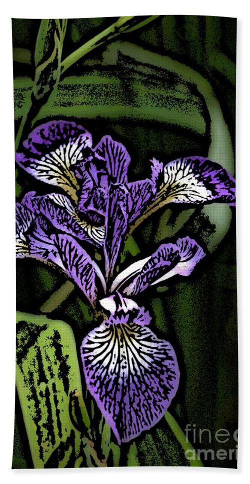 Digital Photograph Beach Towel featuring the photograph Iris by David Lane