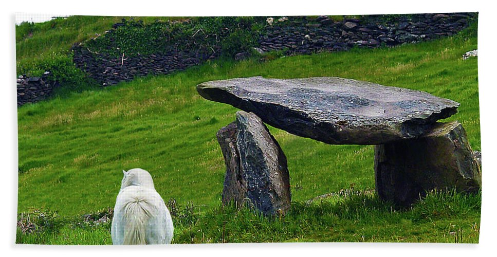 Fine Art Photography Beach Towel featuring the photograph Irish Standing Stones by Patricia Griffin Brett