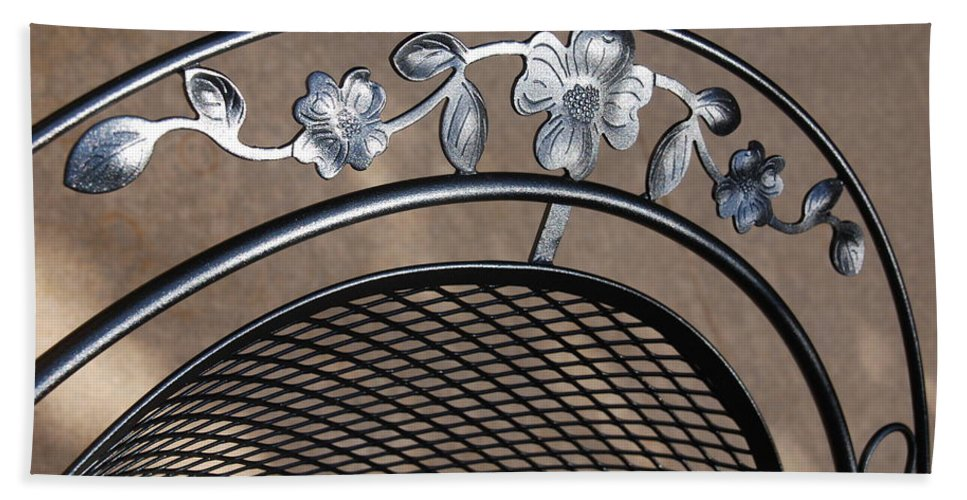 Photography Beach Towel featuring the photograph Iron Art Work by Susanne Van Hulst