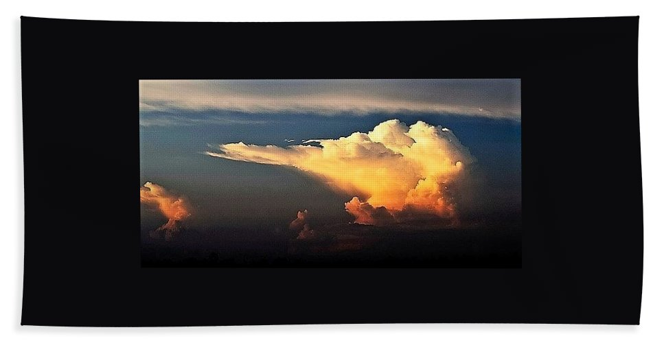 Storms Beach Towel featuring the photograph Is Something Brewing Out There by John Glass