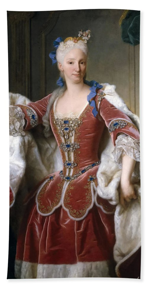 Jean Ranc Beach Sheet featuring the painting Isabella Farnese. Queen Of Spain by Jean Ranc  sc 1 st  Fine Art America & Isabella Farnese. Queen Of Spain Beach Sheet for Sale by Jean Ranc