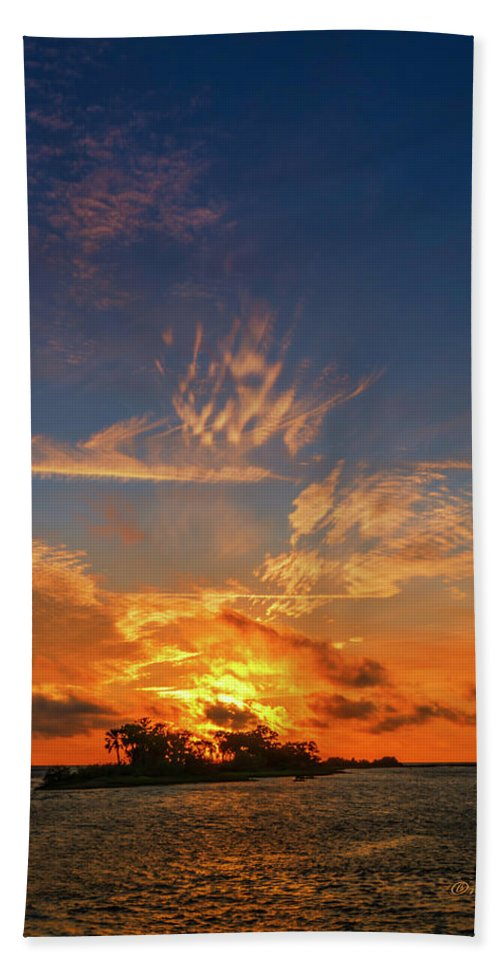 Marvin Spates Beach Towel featuring the photograph Island In The Sun by Marvin Spates