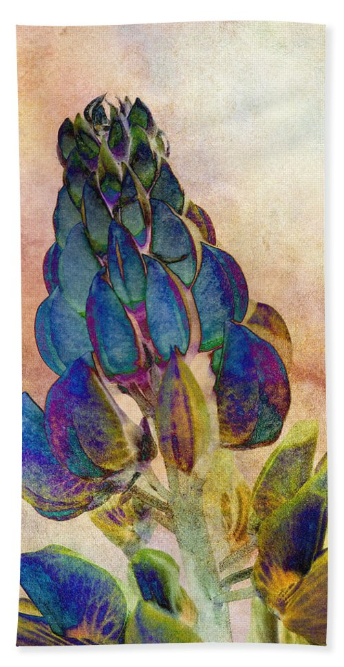 Lupin Beach Towel featuring the photograph Island Lupin 2 by WB Johnston