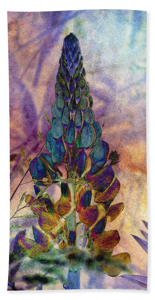 Lupin Beach Towel featuring the photograph Island Lupin 6 by WB Johnston
