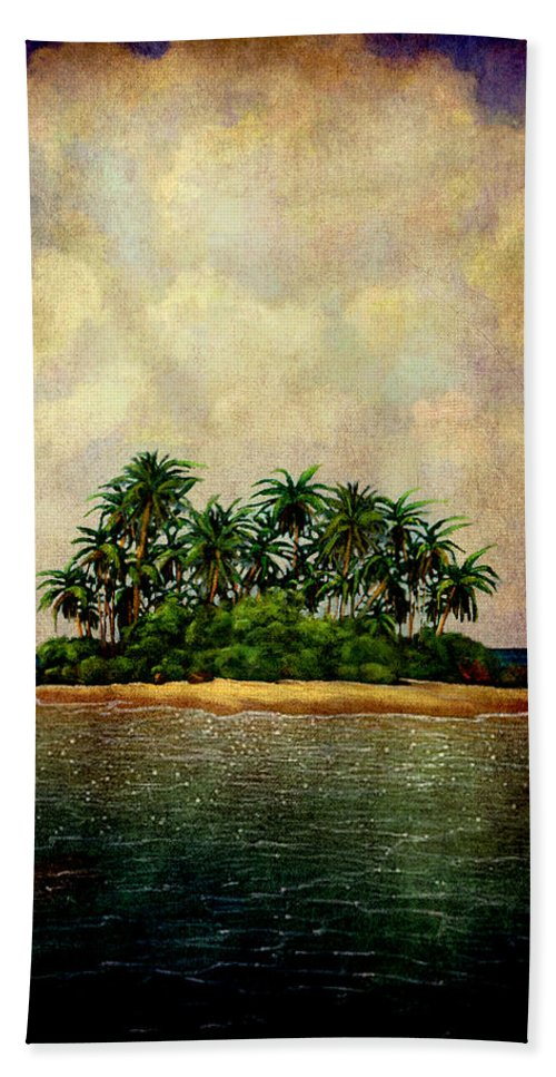 Island Beach Towel featuring the photograph Island Of Dreams by Susanne Van Hulst