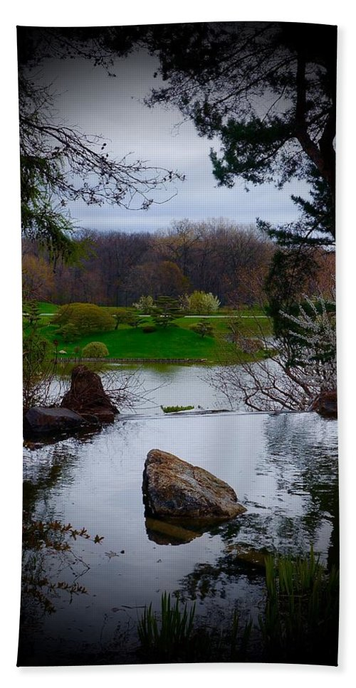 Chicago Botanic Garden Beach Towel featuring the photograph Island Of Immortals by Tim G Ross