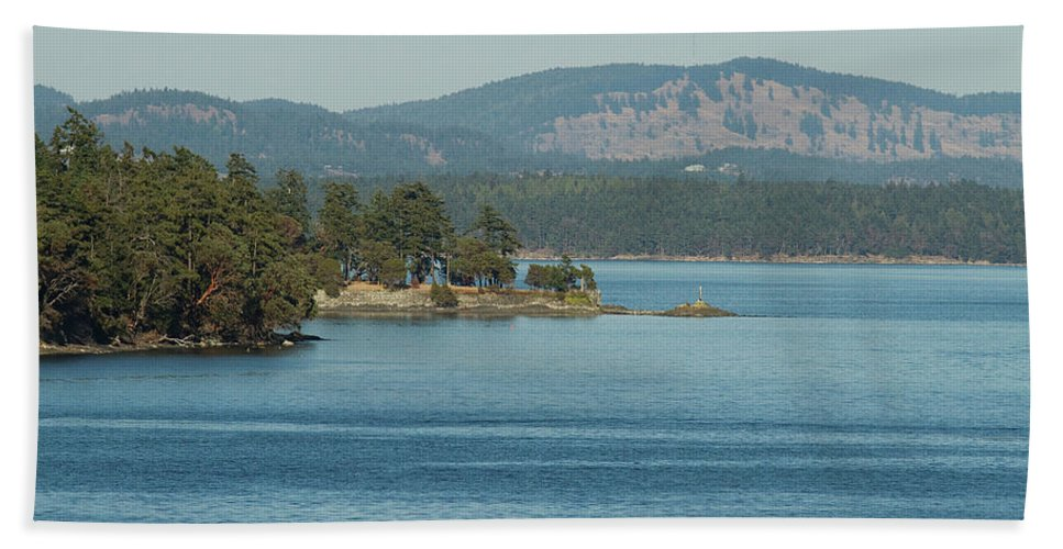 Ocean Beach Towel featuring the photograph Islands And Mainland by Deanna Paull