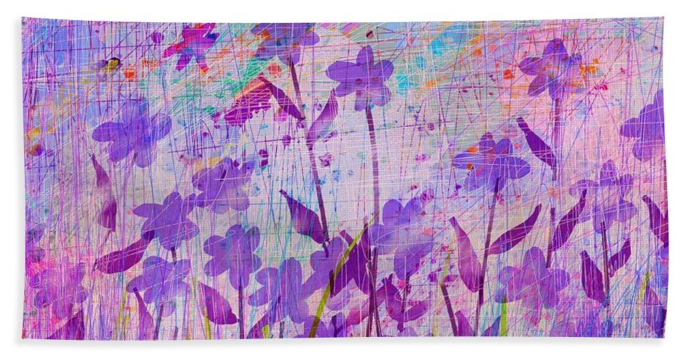 Abstract Beach Towel featuring the digital art It's a wild world by William Russell Nowicki