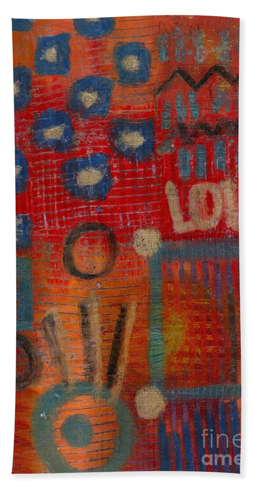 Gretting Cards Beach Towel featuring the mixed media It's Love by Angela L Walker