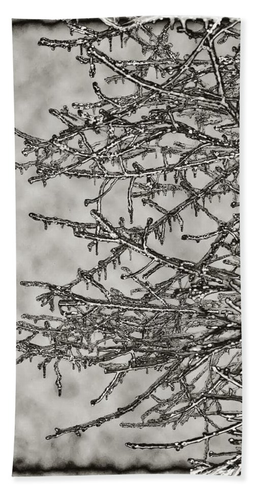 Ice Beach Towel featuring the photograph Jack Frost by Bill Cannon