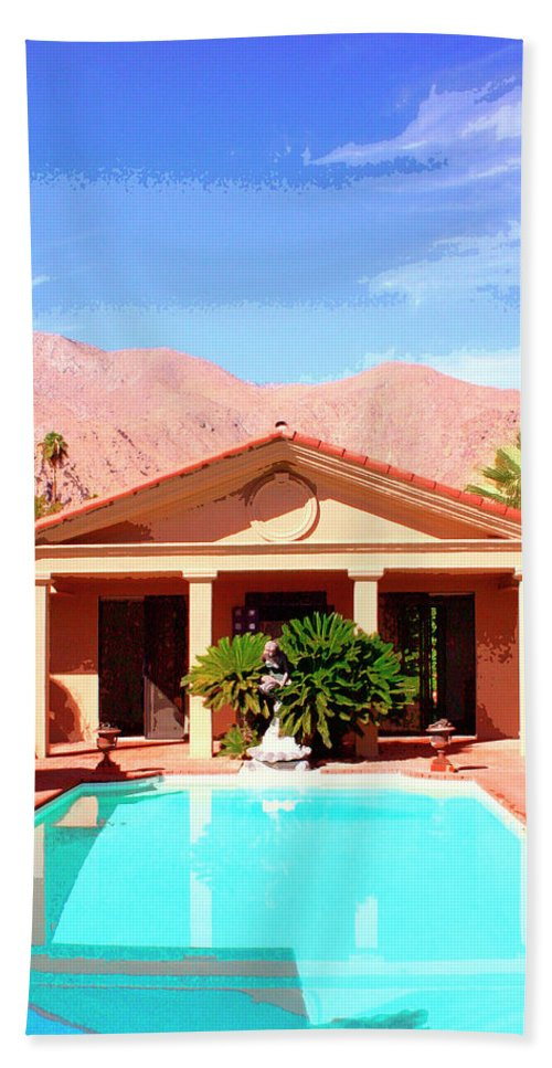 Jack Warner Estate Beach Towel featuring the photograph Jack Warner Estate by William Dey