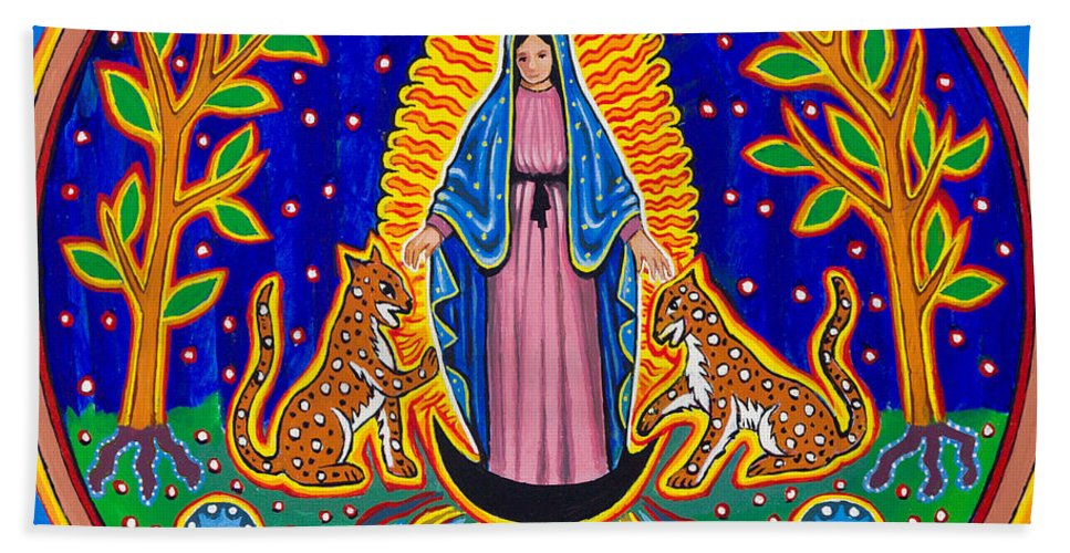 Guadalupe Beach Towel featuring the painting Jaguar Ally by James RODERICK