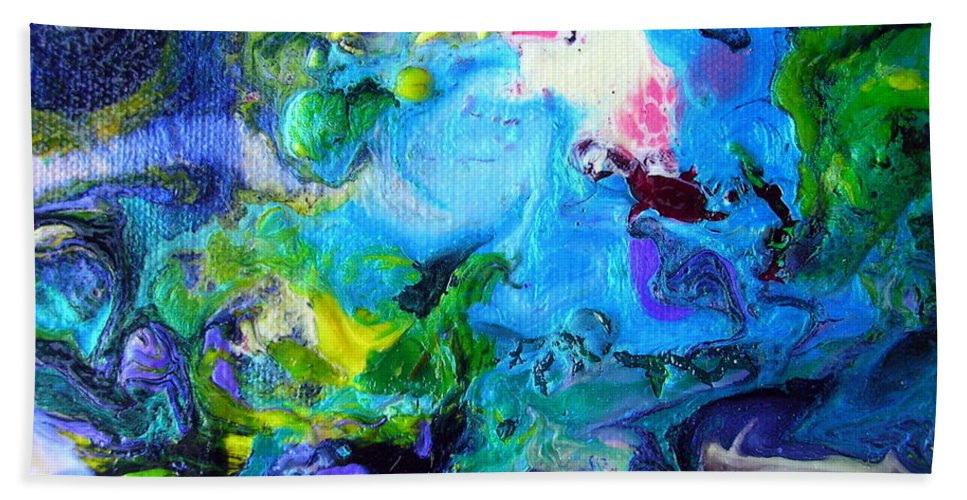 Art Beach Towel featuring the painting Jamaica Nights by Dawn Hough Sebaugh