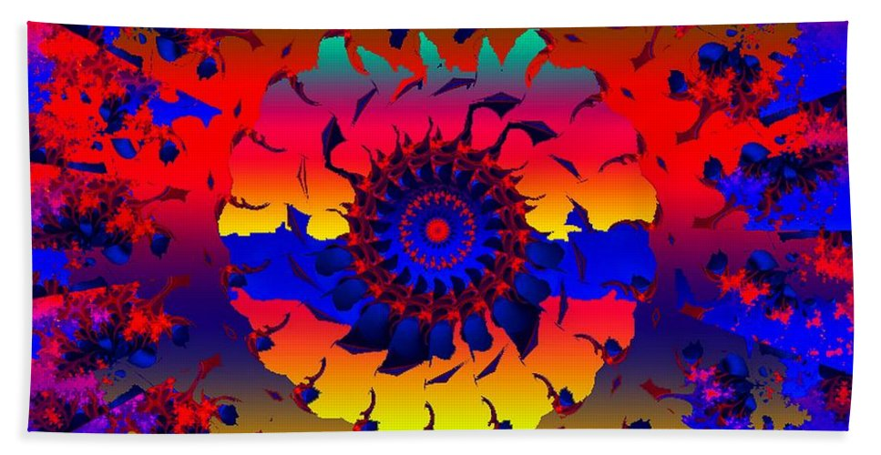 Wheel Beach Towel featuring the digital art Jamaica Say You Will by Robert Orinski