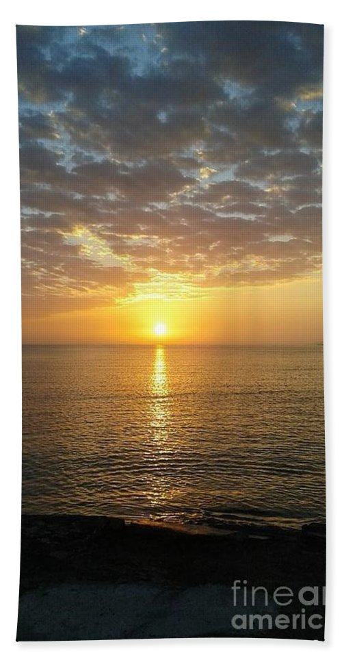 Sunset Beach Towel featuring the photograph Jamaican Sunset by Geary Jones