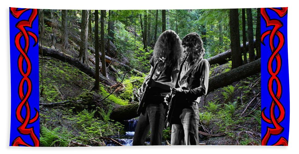 Allen Collins Beach Towel featuring the photograph Jamming On Mt. Spokane 1 by Ben Upham