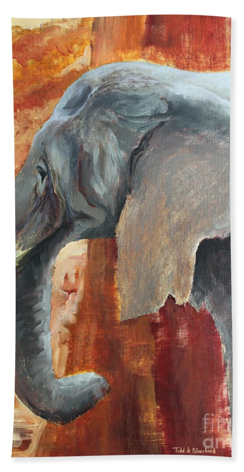 Animal Beach Towel featuring the painting Jana by Todd Blanchard