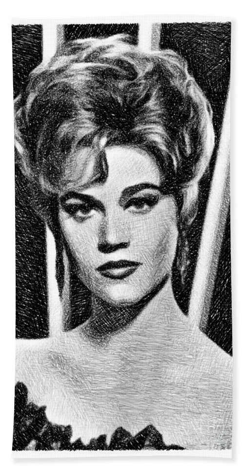Jane Fonda Vintage Actress By Js Beach Towel For Sale By Esoterica Art Agency