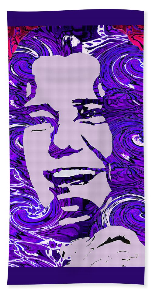 Girl Beach Towel featuring the digital art Janis Joplin by Kevin Jurva
