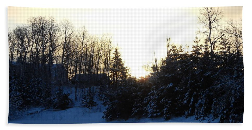 January Beach Towel featuring the photograph January Winter Morninng by Kent Lorentzen