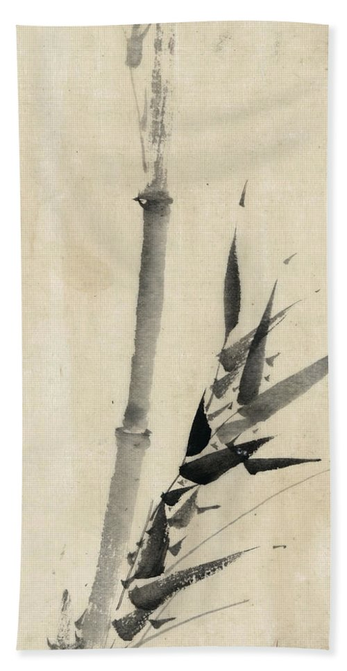 1850 Beach Towel featuring the photograph Japan: Bamboo, C1830-1850 by Granger