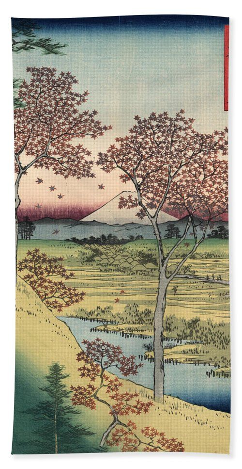 1858 Beach Towel featuring the photograph Japan: Maple Trees, 1858 by Granger