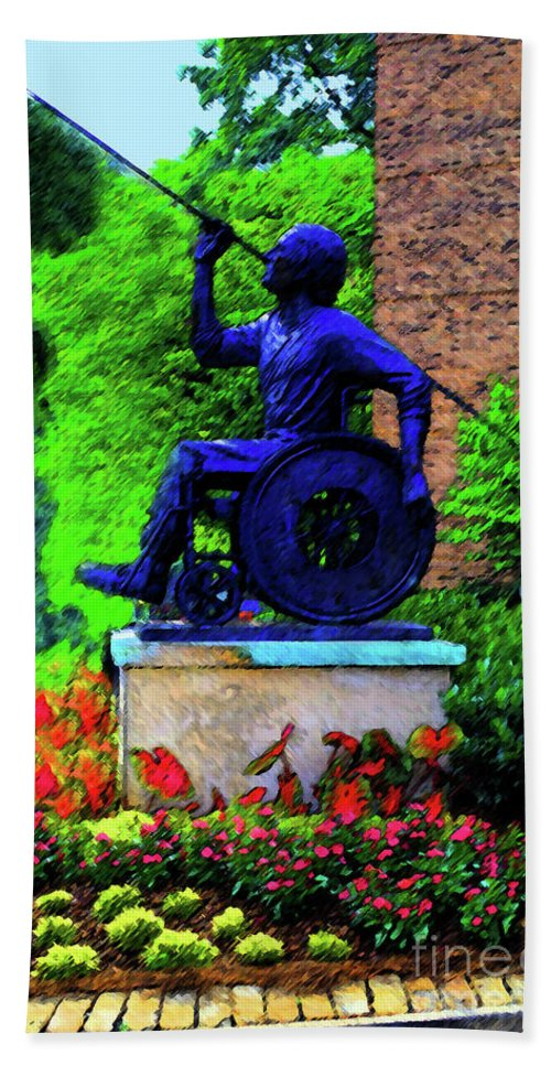 Wheelchair Beach Towel featuring the photograph Javelin Of Flight by Jost Houk