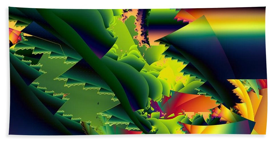 Praying Mantis Beach Towel featuring the digital art Jaws Of The Mantis by Ron Bissett