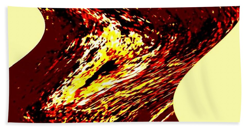 Abstract Beach Towel featuring the digital art Jazz Singer by Will Borden