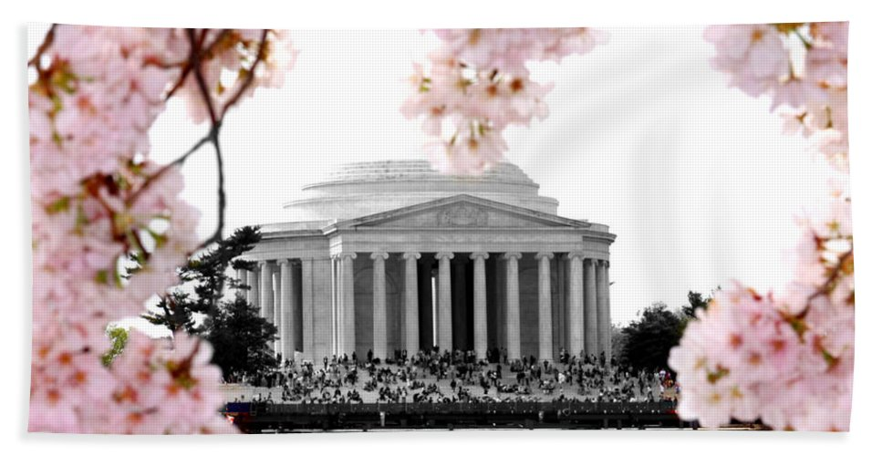 Jefferson Beach Towel featuring the photograph Jefferson In Spring by Tina Meador