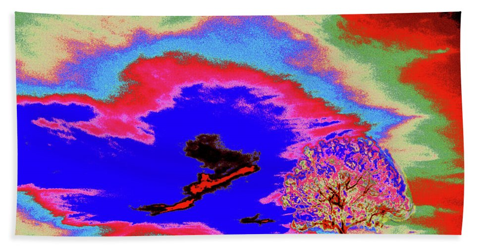 Trees Beach Towel featuring the photograph Jelks Pine 12 by Gary Bartoloni