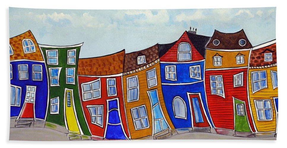 Jelly Bean Row >> Jelly Bean Row Beach Towel
