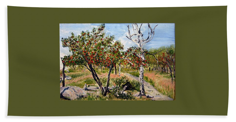 Landscape Beach Towel featuring the painting Jerabiny by Pablo de Choros