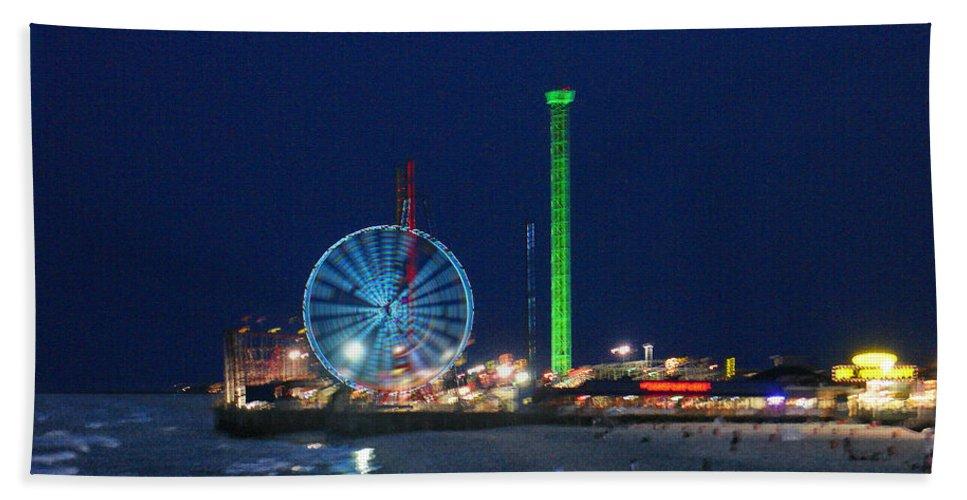 Landscape Beach Towel featuring the digital art Jersey Shore by Steve Karol