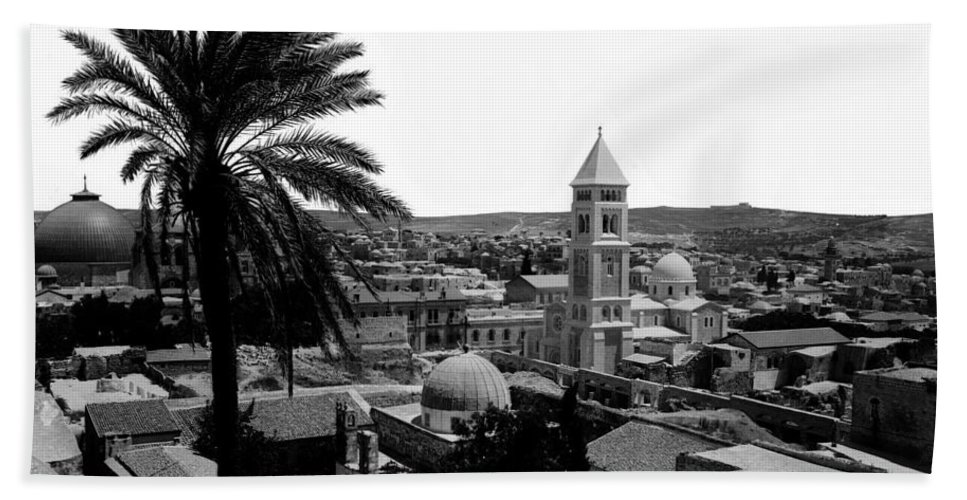 Jerusalem Beach Towel featuring the photograph Jerusalem View From The Southwest by Munir Alawi