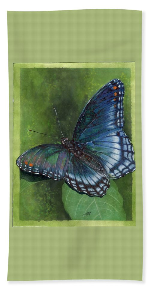 Insects Beach Sheet featuring the mixed media Jewel Tones by Barbara Keith