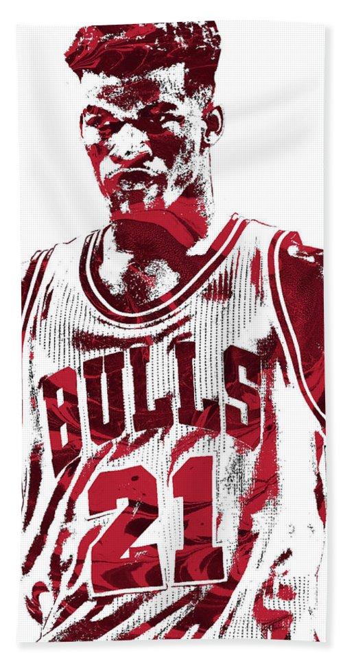 reputable site 18e58 2be53 Jimmy Butler Chicago Bulls Pixel Art 2 Beach Towel