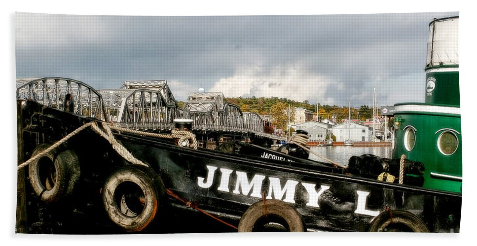 Tugboat Beach Towel featuring the photograph Jimmy L by Joel Witmeyer