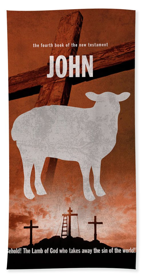 John Beach Sheet featuring the mixed media John Books Of The Bible Series New Testament Minimal Poster Art Number 04 by Design Turnpike