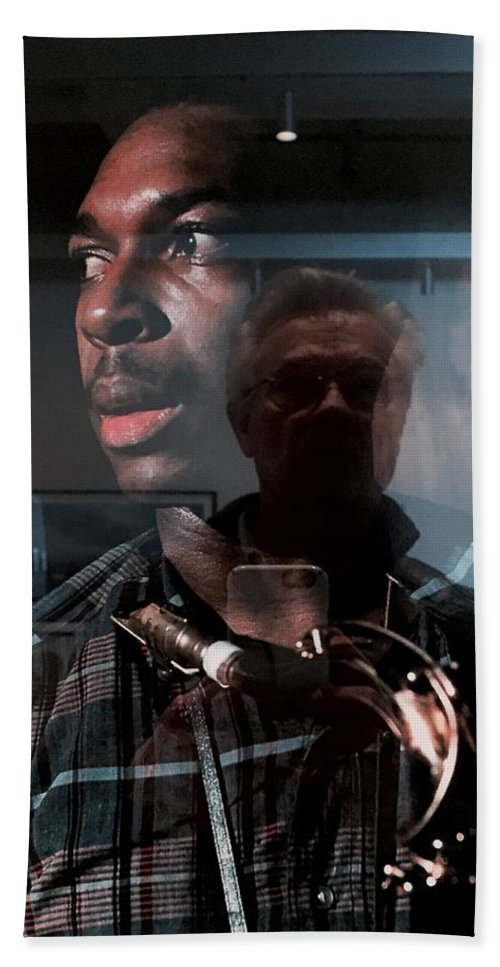 John Coltrane Beach Towel featuring the photograph John Coltrane And Me by Frank Winters