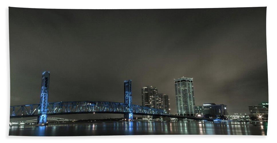 Jacksonville Beach Towel featuring the photograph John T. Alsop Bridge 2 by Kenny Thomas