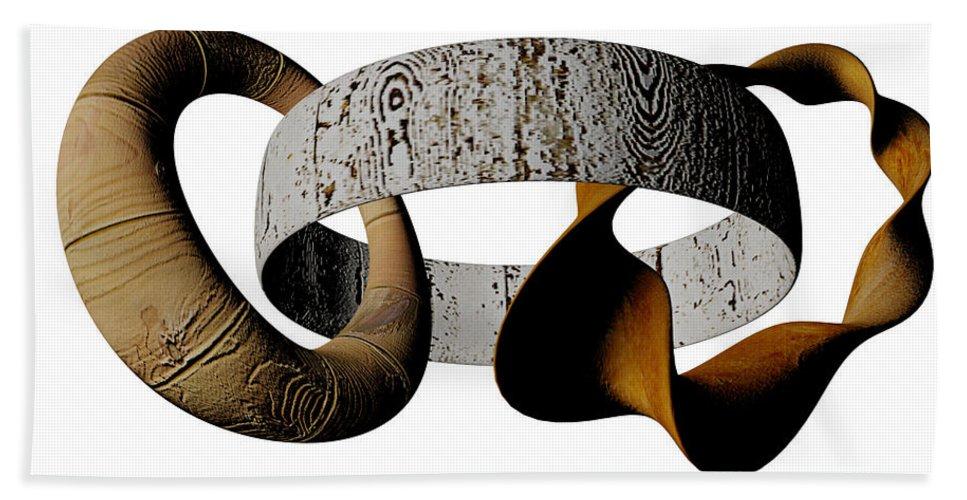 Circle Beach Towel featuring the digital art Join Circles by R Muirhead Art