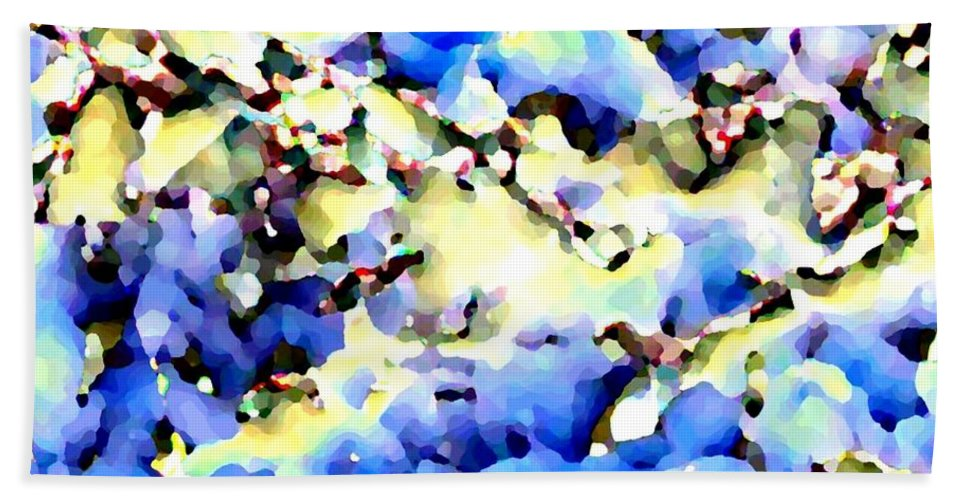 Abstract Beach Towel featuring the digital art Jolly Winter Blues by Will Borden