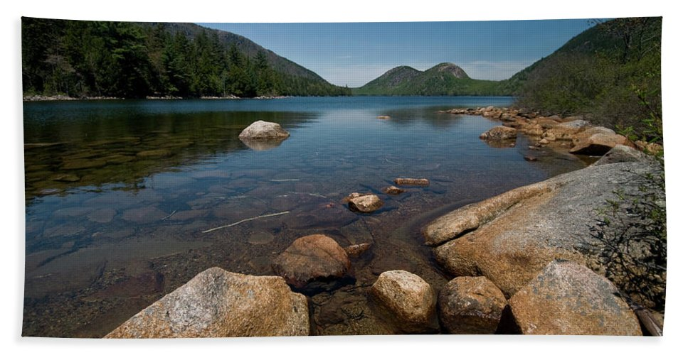 jordon Pond Beach Towel featuring the photograph Jordon Pond by Paul Mangold